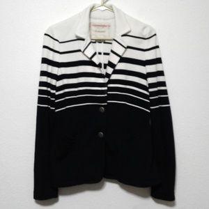 Cartonnier cream navy 2-button nautical blazer